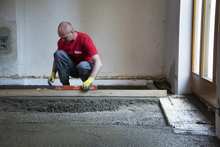Lehký beton Liapor Mix nezatíží svou hmotností stávající konstrukce a jeho aplikace je rovněž velmi rychlá.