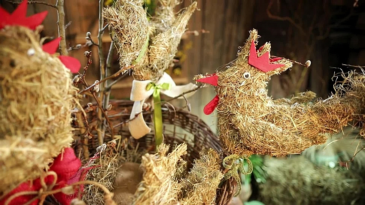 Vyrobte si půvabné jarní slepičky ze sena