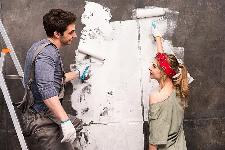 Nyní je vhodná doba pustit se do vymalování bytu (Zdroj: Depositphotos)