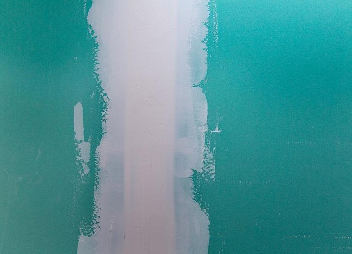 Zelená deska ve vlhkých prostorách zatmelená sádrovou hmotou.