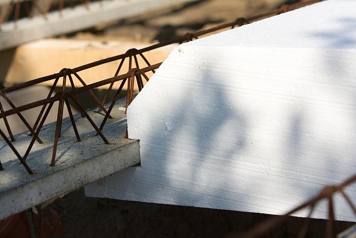 Detail základové desky Elegohouse