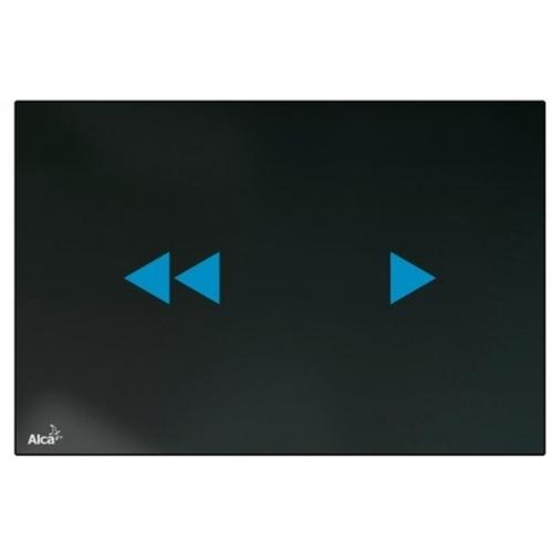 ALCAPLAST Ovládací tlačítko bezdotykové, sklo-černá NIGHT LIGHT-2