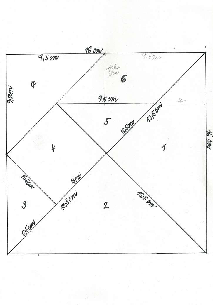 Předloha na tangram puzzle