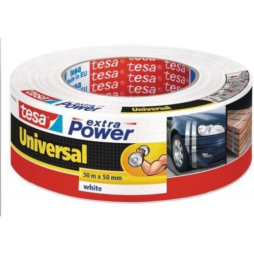 TESA Opravná páska Extra Power Universal, textilní, silně lepivá, stříbrná, 50m x 50mm