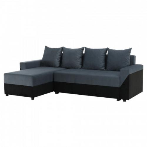 Univerzální sedací souprava, černá/šedá, TIPO, Tempo Kondela