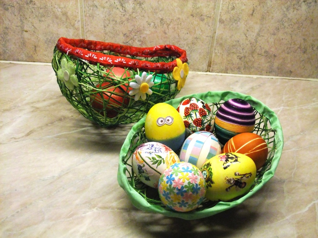 Namotejte si netradiční košík na velikonoční výslužku