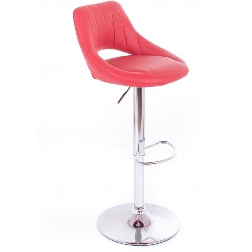 G21 Barová židle Aletra koženková, prošívaná červená