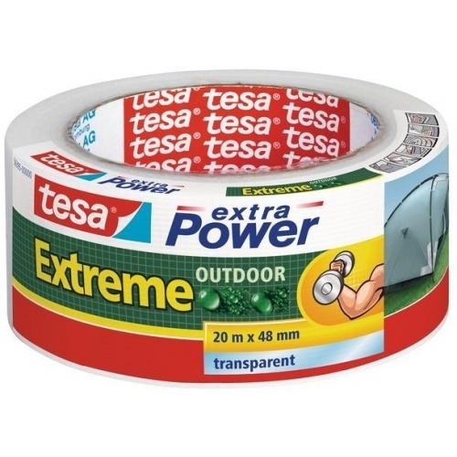 TESAExtra Power EXTREME OUTDOOR, UV odolnost 1 rok, průhledná, 20m x 48mm