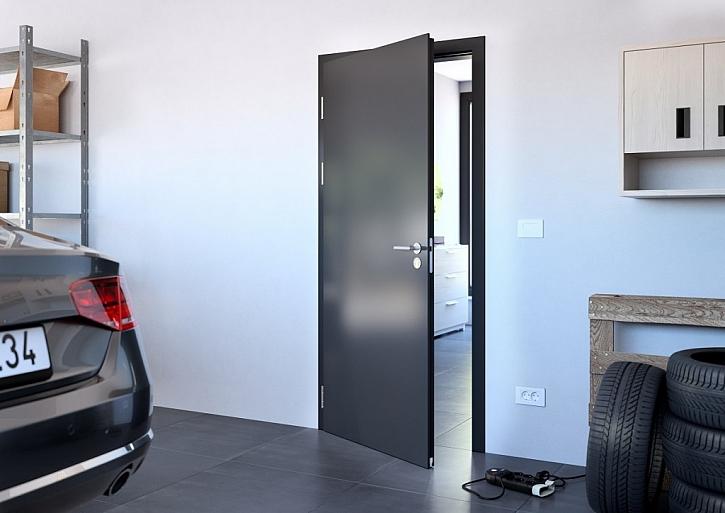 Speciální kouřotěsné dveře, v provedení Elegant, CPL černý grafit.