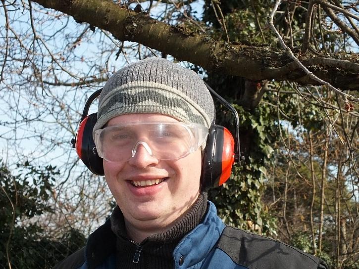 Ochranná sluchátka a brýle