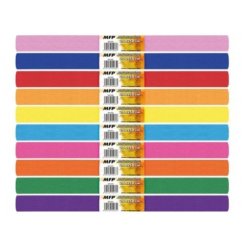 MFP krepový papír role 50 x 200 cm mix barev 10 ks duhový