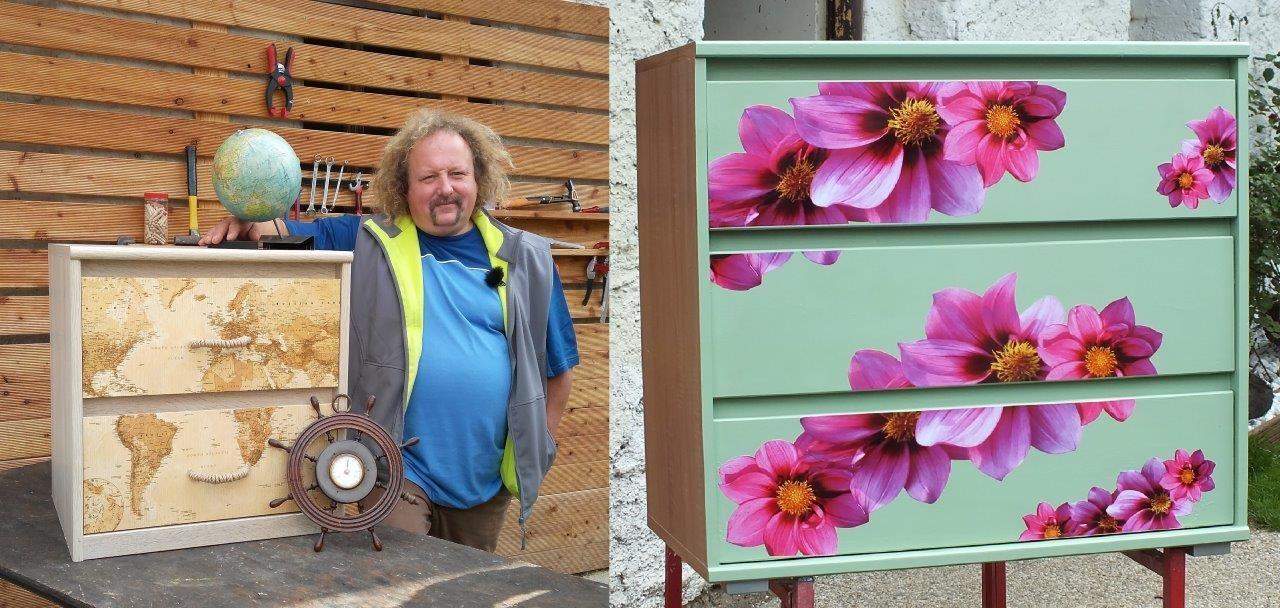 Jak na renovaci komod: Pro dámy s romantickými květy, pro chlapy v námořnickém stylu