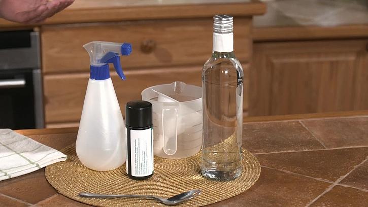 Ingredience na druhou dezinfekci