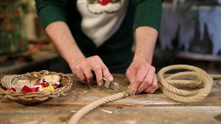 Uřízněte kus lana