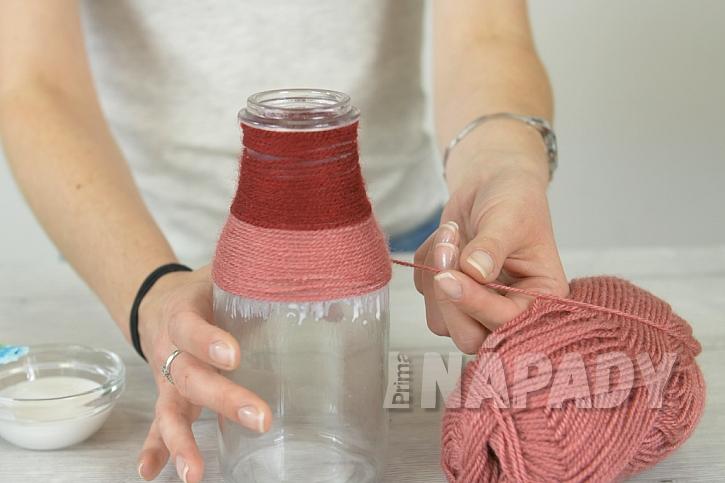 Barevná vlněná váza aneb Recyklace je v kurzu 2