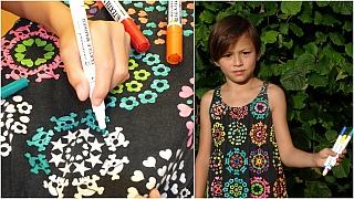 Dívčí šaty jako omalovánky: Proměna oblečení s fixem a žehličkou