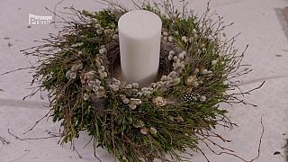 Květinová velikonoční dekorace