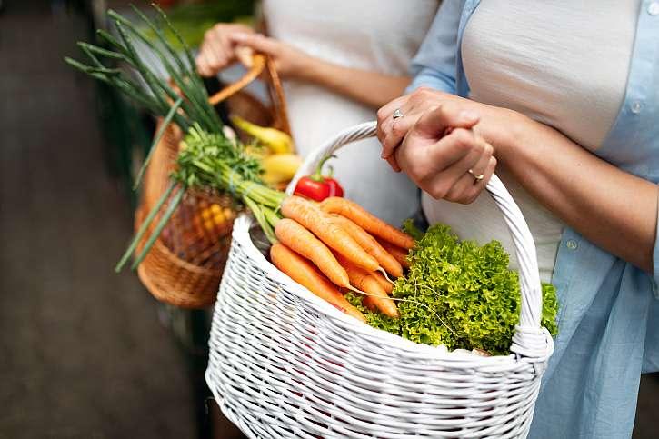 Koše zeleniny