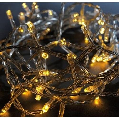 Vánoční osvětlení 200 LED - TEPLÉ BÍLÉ / 20LED bliká
