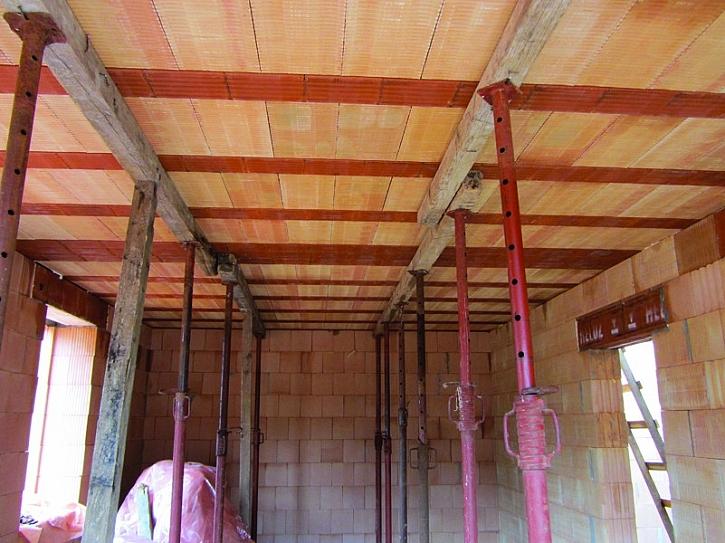 Postup při zhotovení stropu