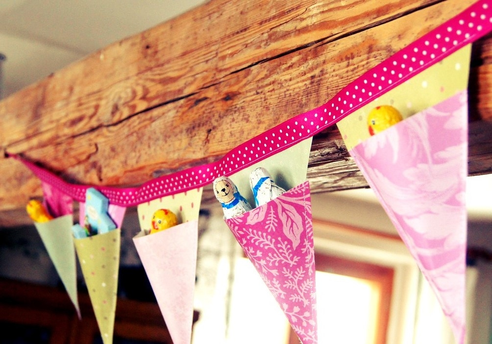 Velikonoční papírová girlanda: Jak připravit dětem netradiční nadílku