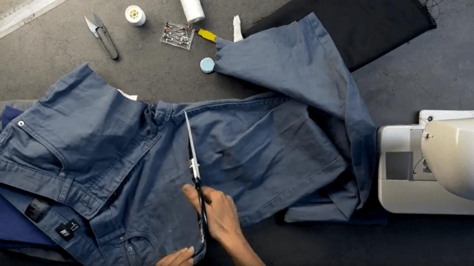 Povlak na dekorační polštářek ze starých kalhot: Recyklace nás baví!