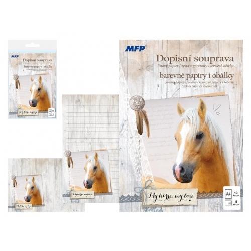 MFP dopisní papír barevný LUX 5+10 (Kůň)