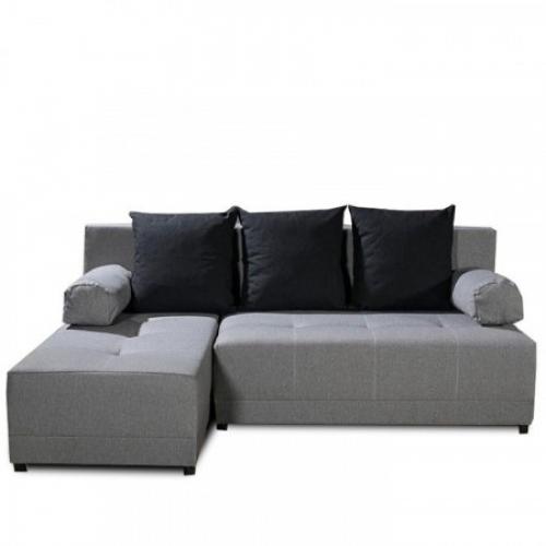 Rohová sedací souprava, šedá / černá, levá, MEXX, Tempo Kondela