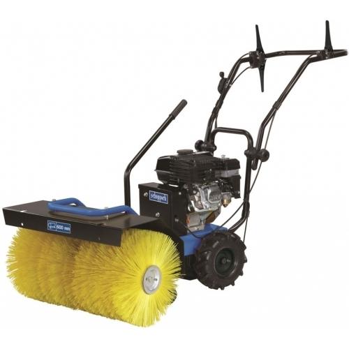 SCHEPPACH SC 2400 P - motorový zametací kartáč + sněhová radlice + zásobník 5908701904