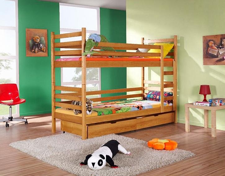 Patrovou postel Arneba z e-shopu MT-nábytek.cz můžete v případě potřeby rozložit i na dvě obyčejné postele.