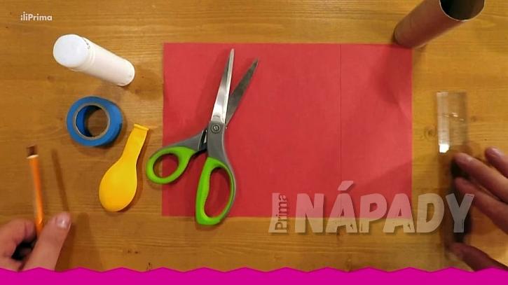 Konfetovač z papírové ruličky: Co budete potřebovat