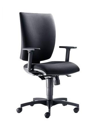 Pro občasnou práci u počítače vám postačí pracovní židle bez houpacího mechanismu.