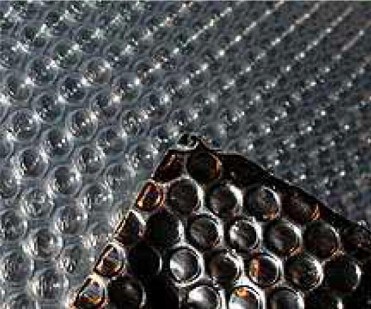 Vzorek č.1 - alu fólie s bublinkovou fólií