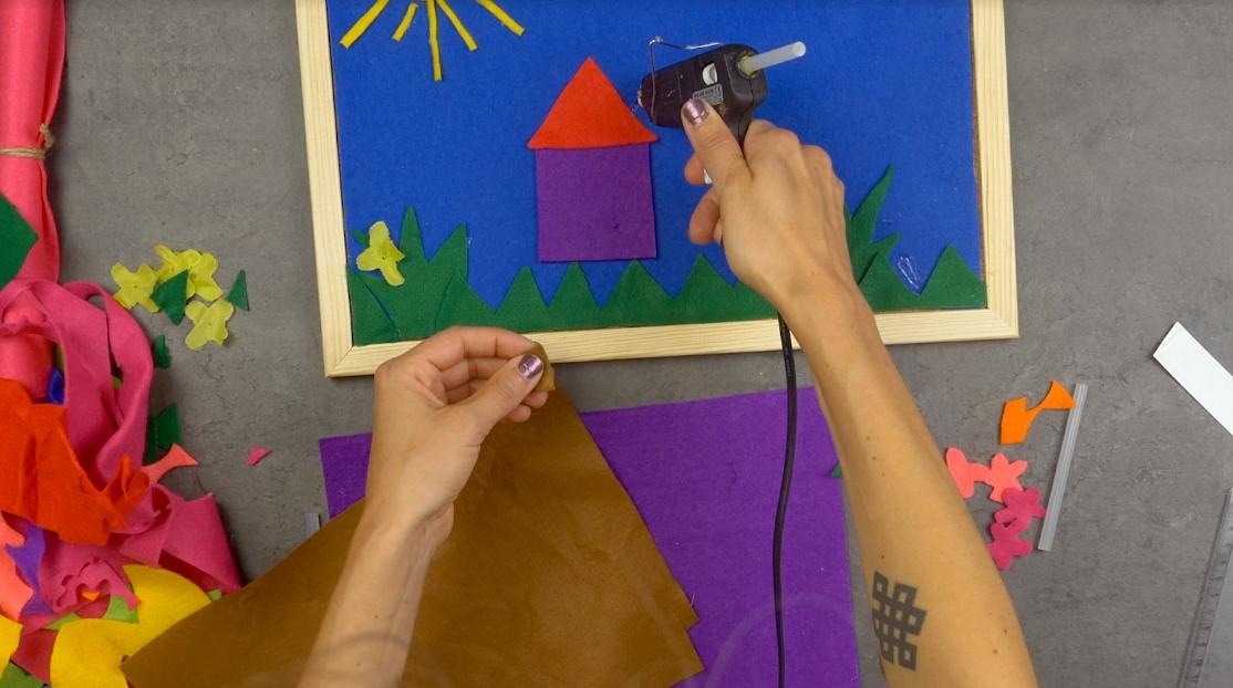 Magnetický obrázek pro děti: Barevné hrátky splstí amagnety
