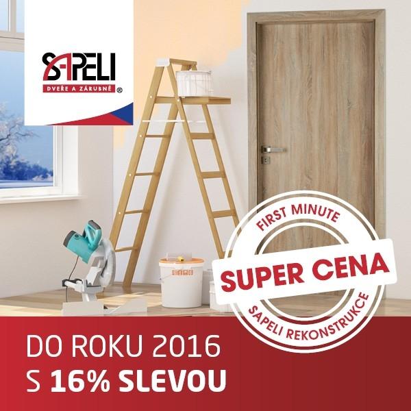 Vstupte do roku 2016 s 16% slevou na dveře SAPELI.