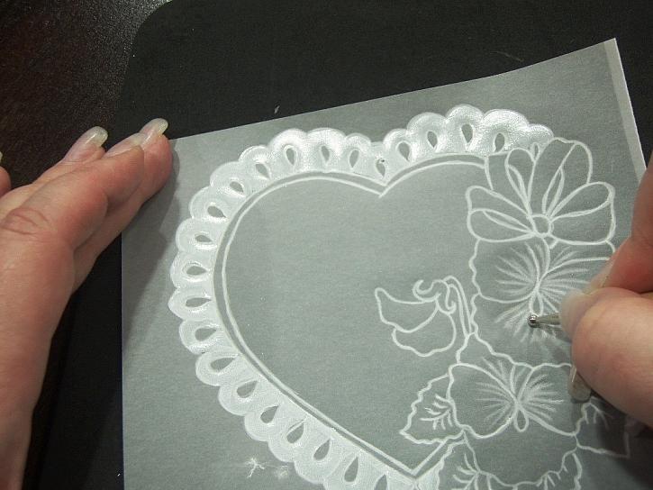 Výroba pergamanového přání