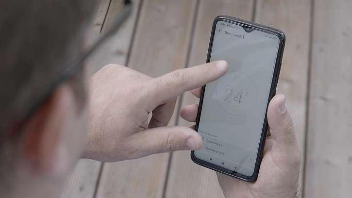 Ovládání tepelného čerpadla zvládne aplikace vašeho telefonu