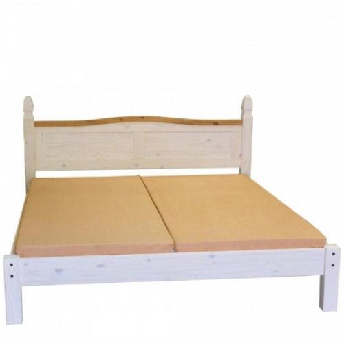 Dvoulůžko CORONA bílý vosk 140x200, IDEA nábytek