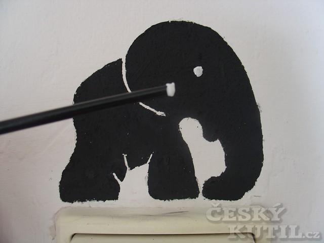 Vypínač trochu jinak - výroba šablony na malování
