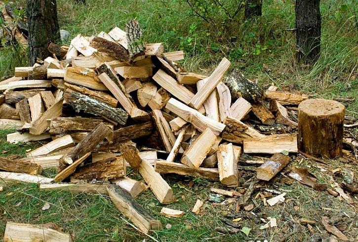 Dřevo před uskladněním naštípeme, snáze tak proschne
