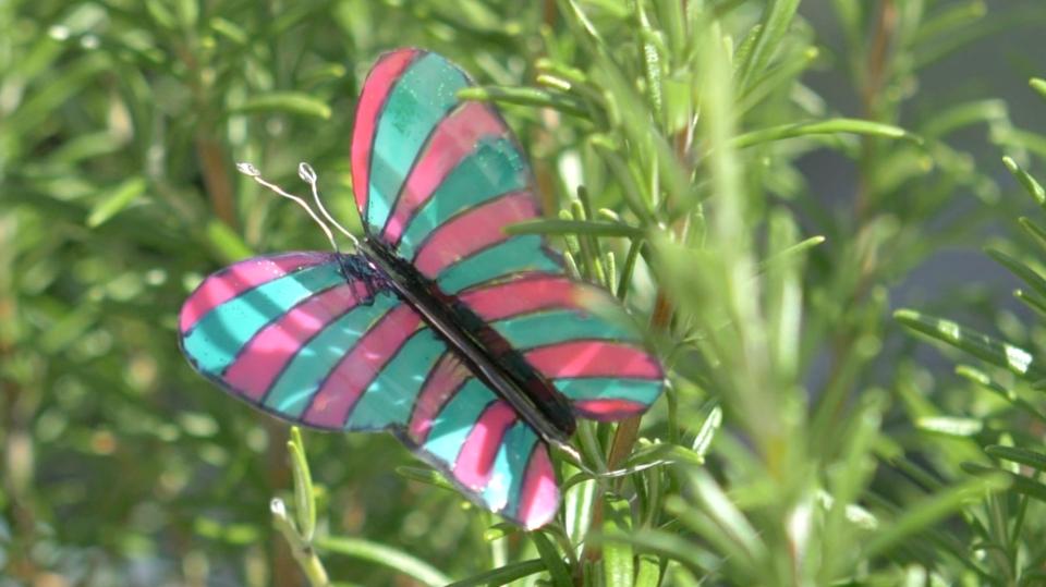 Motýl z plastové láhve aneb Co se dá vyrobit zpetky