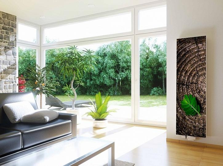 Ekologie, úspora a design to jsou hlavní jmenovatelé letošního veletrhu Infotherma. Designový radiátor RADIK PREMIUM (ten obraz vpravo).
