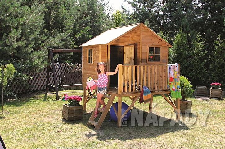 Dřevěný dětský zahradní domek