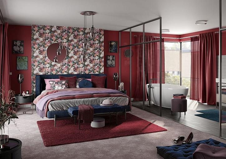 červená ložnice