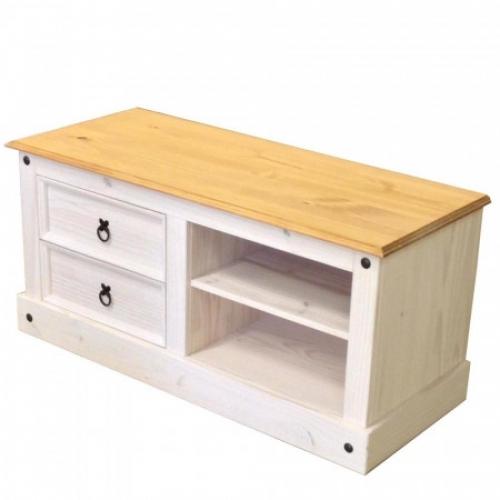 TV stolek CORONA bílý vosk 161017B, IDEA nábytek