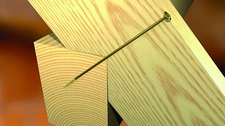 Vruty pro dřevostavby a podložka k vrutům