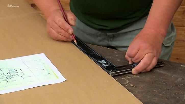 Nanesení rozměrů na karton