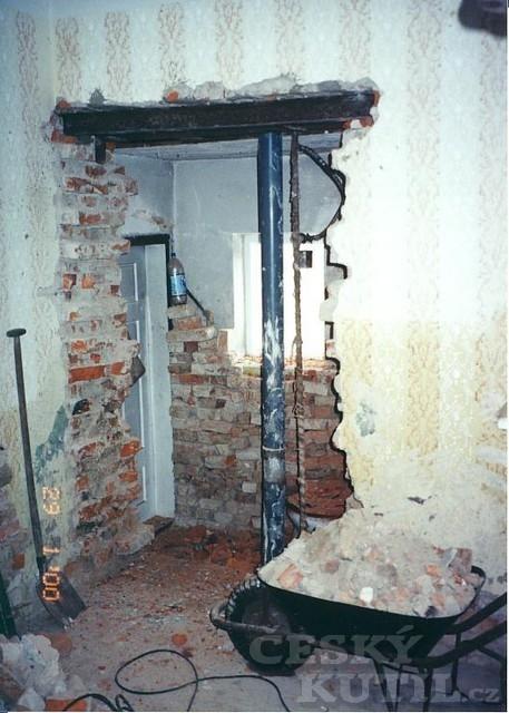 Nová koupelna v domě z roku 1867