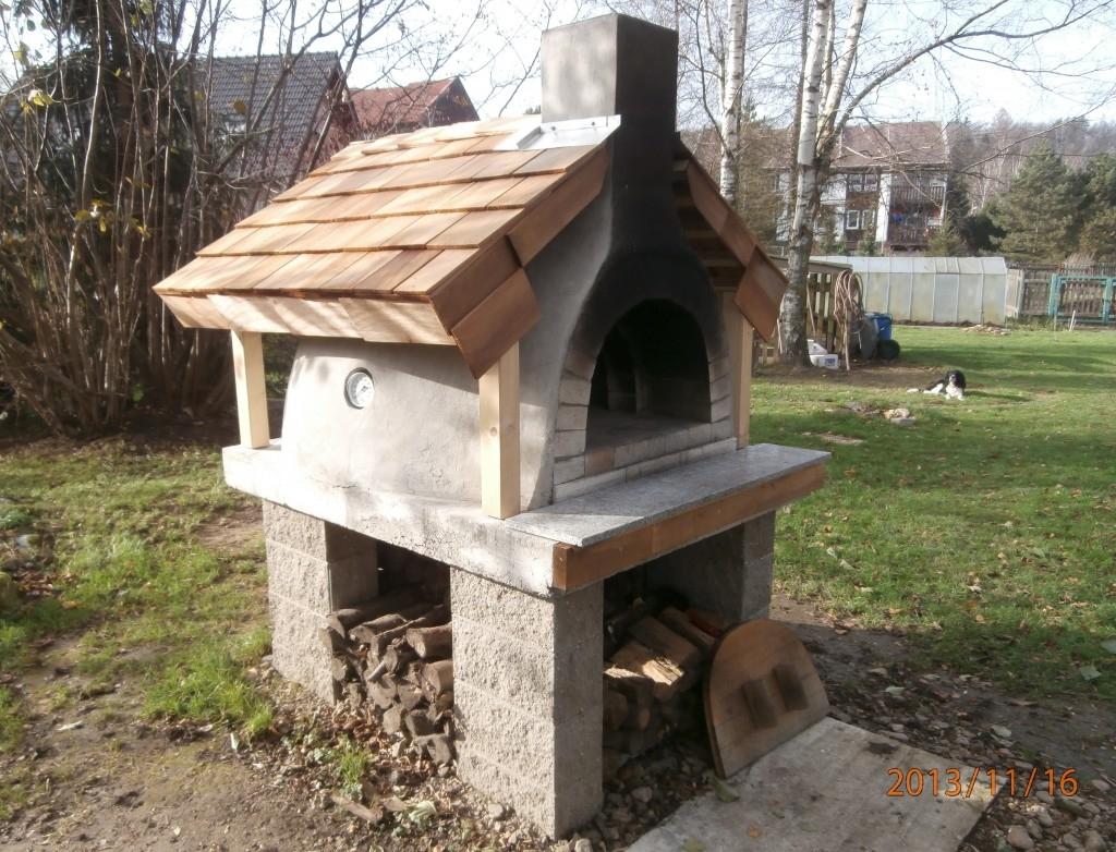 Stavba zahradní pece 2.díl - komín, tepelně izolační plášť a první sezóna