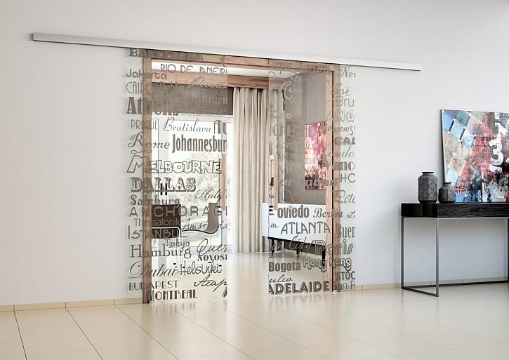 Celoskleněné dveře s potiskem – nová duše vašeho interiéru